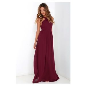 NWT Lulu's Burgundy / Maroon Formal Dress
